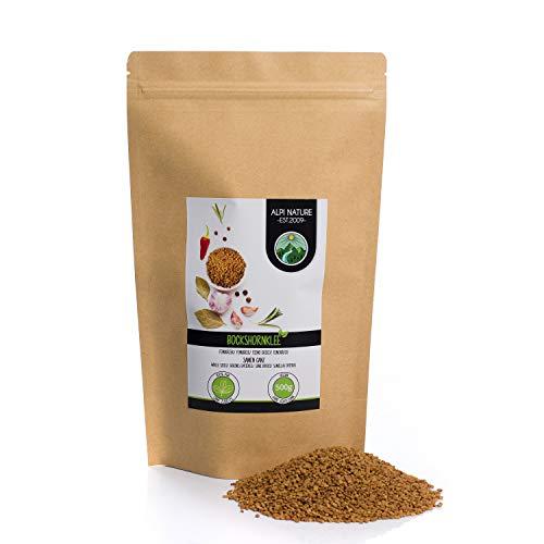 Graines de fenugrec entières (500g), 100% naturelles, bien entendu sans additifs, végétaliennes