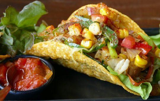 Tacos, Mexicain, Manger, Délicieux, Déjeuner
